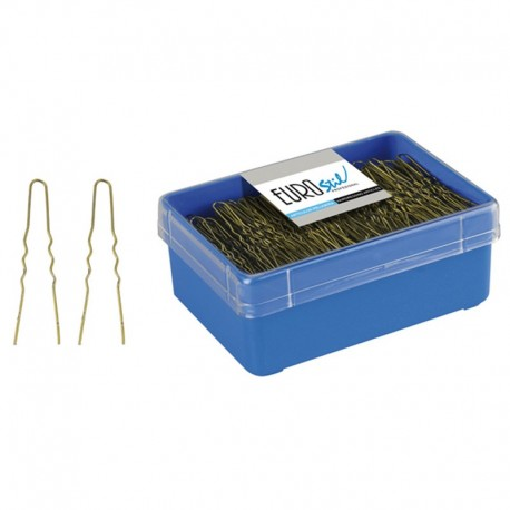 Caja 400 Horquillas Invisibles Bronce 55 mm
