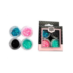 Set Decoracion Uñas Glitter 4 Und