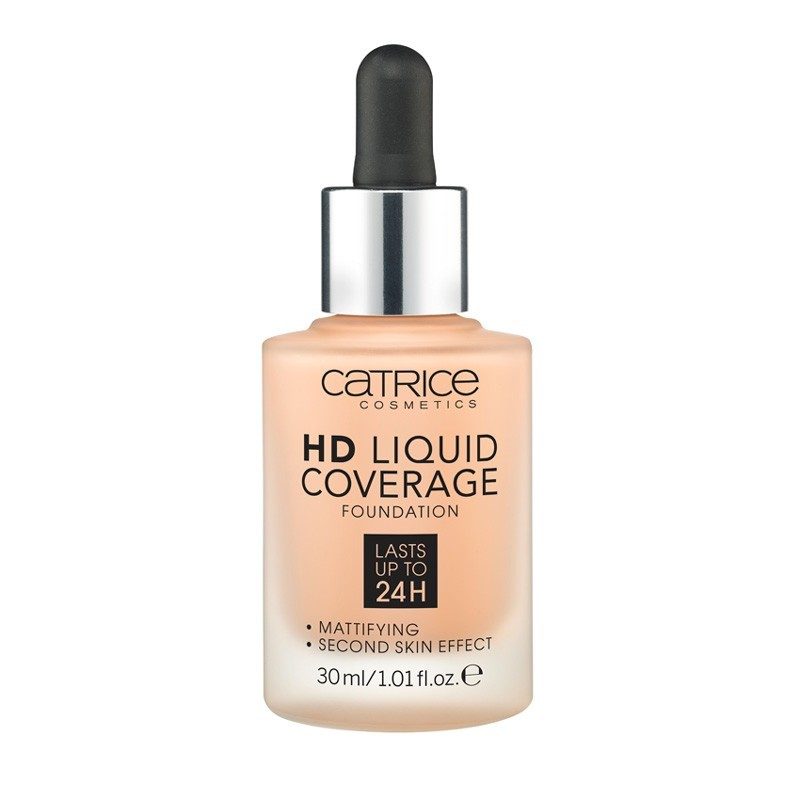 Base de maquillaje HD Liquid Coverage: 030 Sand Beige 30 ml