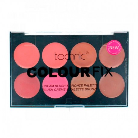 Paleta Colorete y Bronceador en Crema Colour Fix Technic