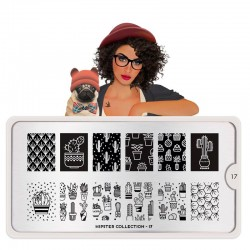 Placa Sello Hipster 17 MoYou London